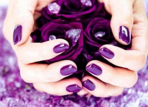 Дизайн нігтів: фіолетовий манікюр