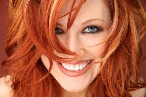 мелірування на руде волосся